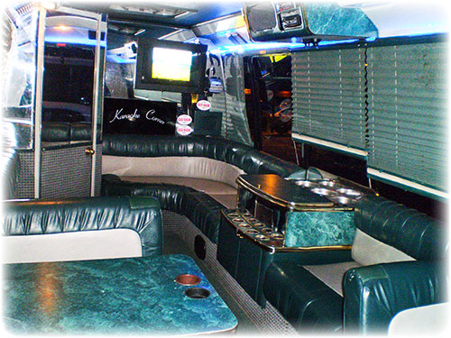 Limos Andrews Limousine Massachusetts Transportation - Party bus with bathroom
